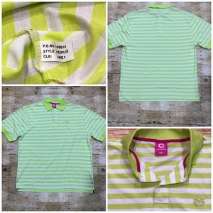 Akademiks Colours Polo Shirt Lime Green Size 4XL
